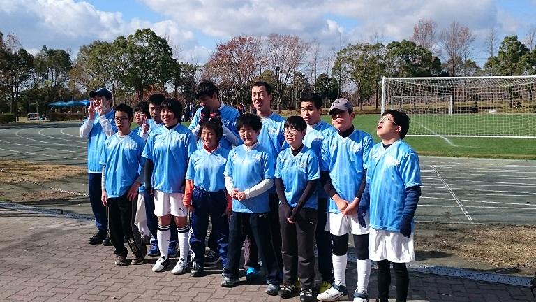 チャレンジドサッカーサークル神戸の集合写真