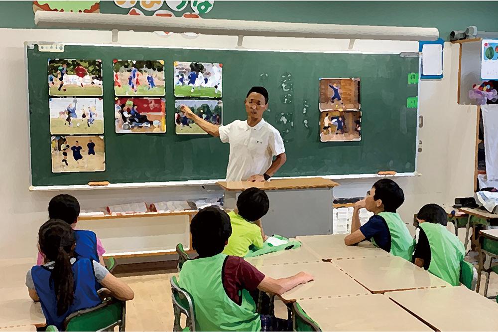 対面授業の教室での様子