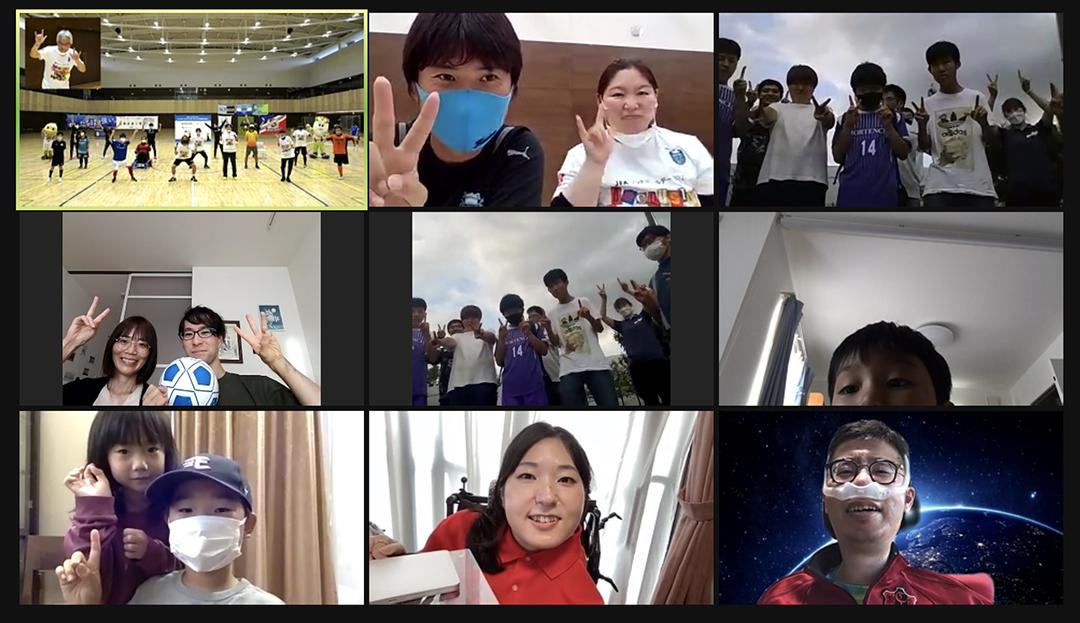 ZoomのAグループ集合写真